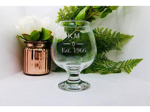 Personalised Brandy/Cognac Glass