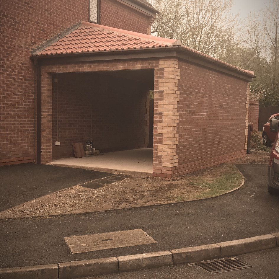 Completed garage in Bromsgrove | Bromsgrove Builder
