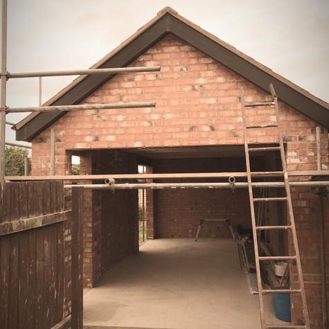 New garage build | Builders in bromsgrove