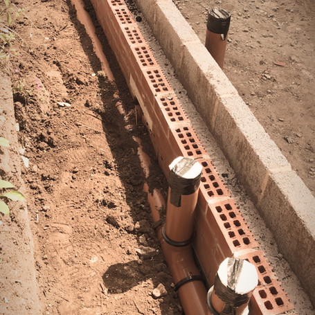 Drainage and foootings on an extension in Bromsgrove | Builders in Bromsgrove
