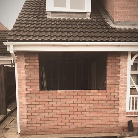 Garage conversion underway in Bromsgrove | Builders in bromsgrove