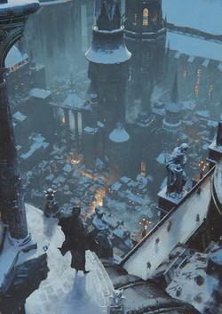 学園都市の冬