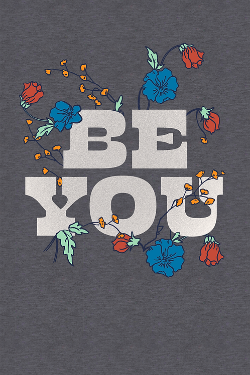 170 Floral Text Be You JCG