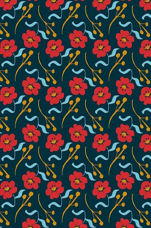 160 Floral Poppy Circles JCP