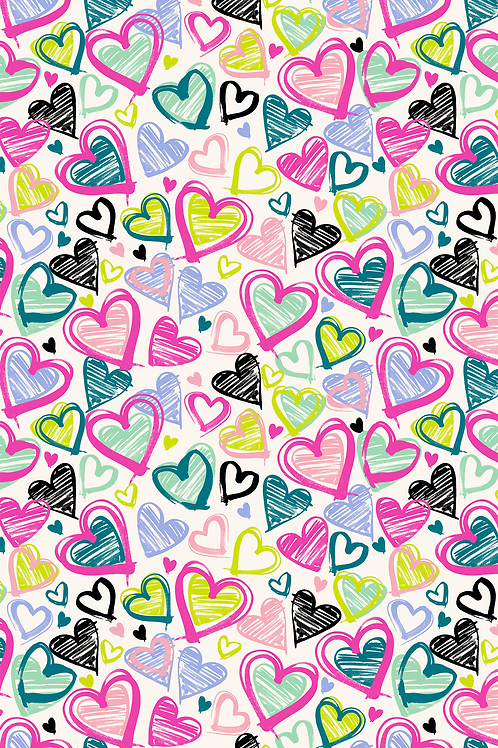 139 Novelty Heart Doodle ASP