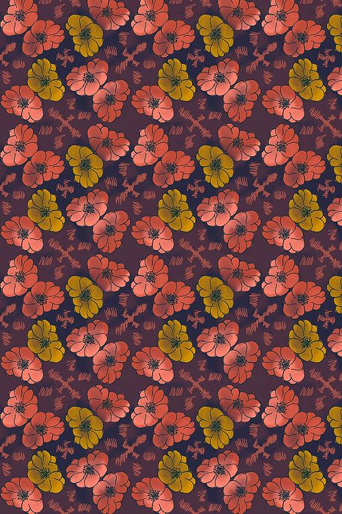 134 Floral Dye Cross JCP