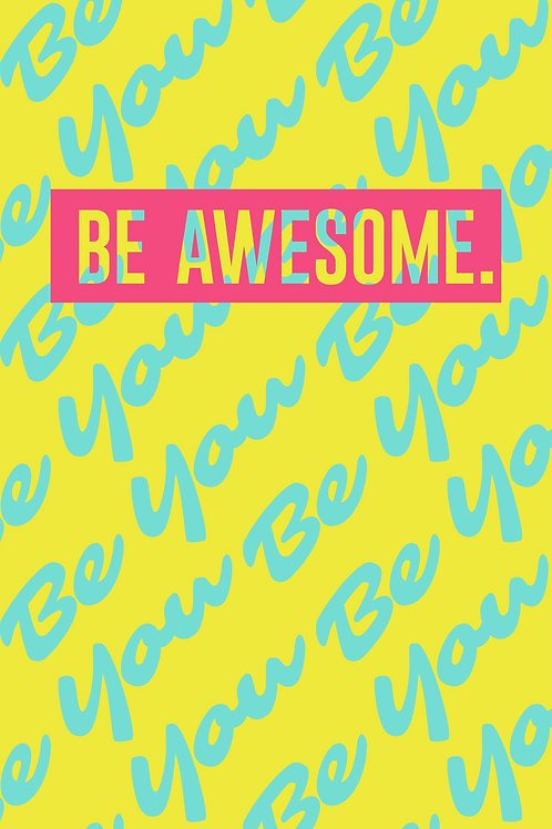 057 Text Be Kind Awesome