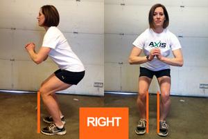 double leg squats right