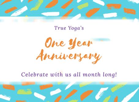 True Yoga Harford's One Year Celebration!