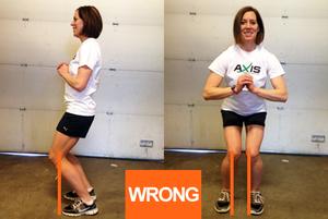double leg squats wrong