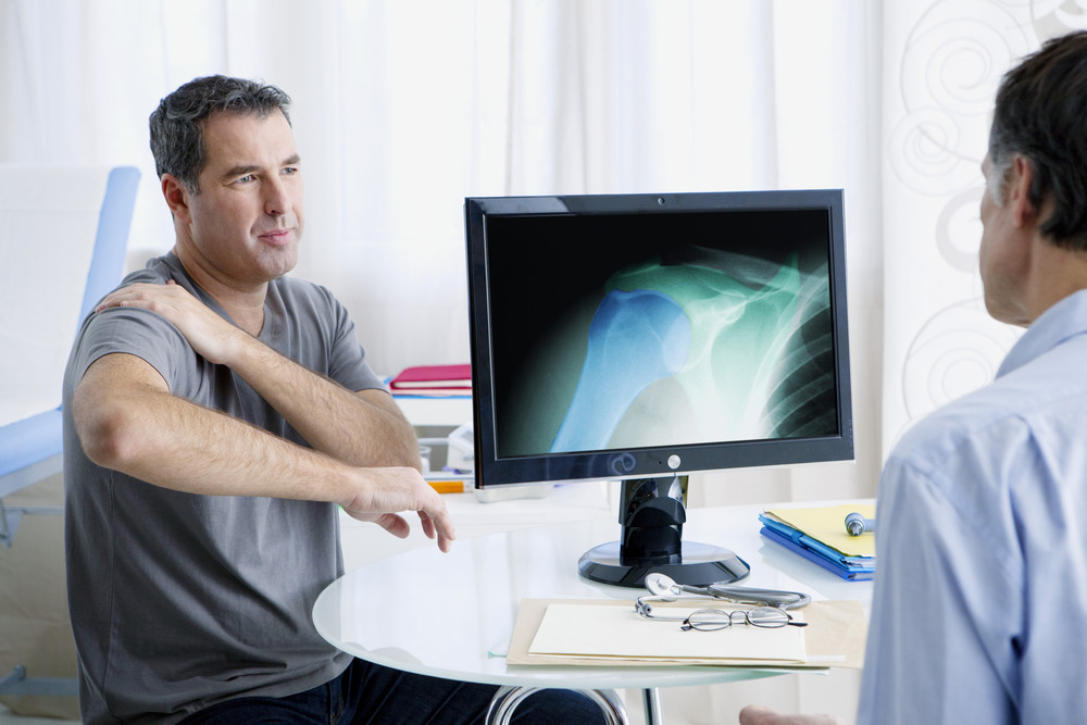 Man with Shoulder Pain or Shoulder Surgery