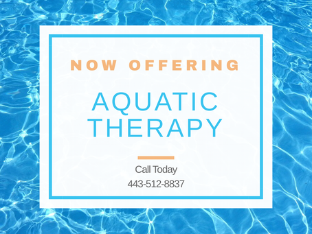 Innovative Physical Therapy Now Offering Aquatic Therapy