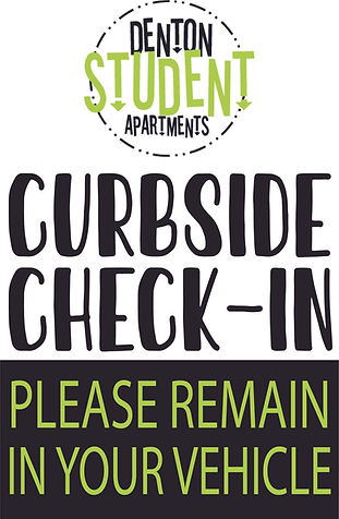 curbside check in sign