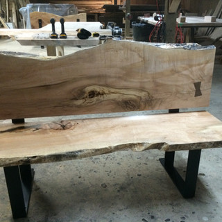 009 - Maple Bench with Back
