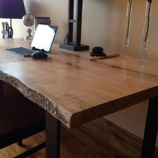 007 - Live Edge Maple Desk