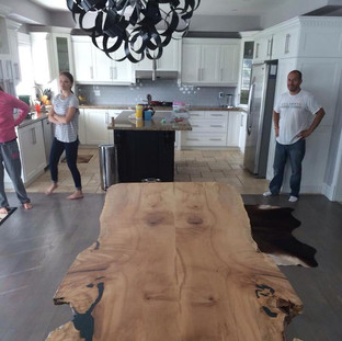 17 - bookmatched Maple Live Edge Table