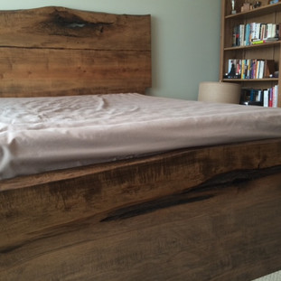 10. Maple Live Edge Bed / Walnut stain
