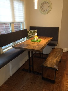 28 - Small Live Edge Dining Table With Matching Bench!