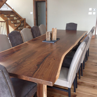 14- Black Walnut Table with Wood Legs