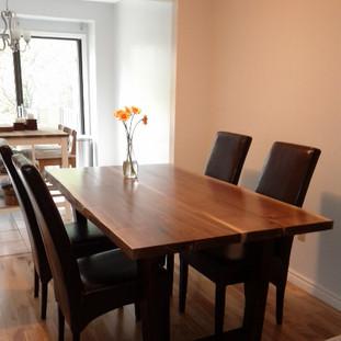 015 - Black Walnut Table / Wood Picture Frame Leg