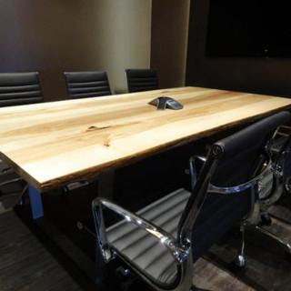 12 - Ash Live Edge Boardroom Table