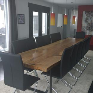 10- Single Slab Maple Live Edge Table