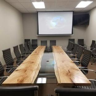17- Maple Reversed Live Edge Boardroom Table