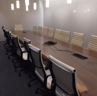 20 - 20' Live Edge Boardroom Table Conference Table