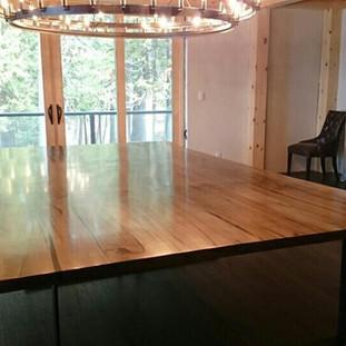 21-Custom Oversized Maple Dining Table