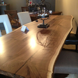 18- Black Walnut Live Edge Table