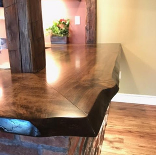 006B - MAPLE STAINED WALNUT LIVE EDGE COUNTERTOP