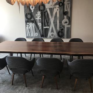 3- Black Walnut Live Edge Table