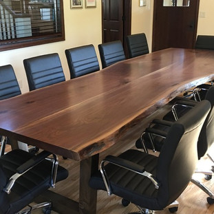 9 -Black Walnut Boardroom Table