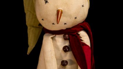 Striped Hat Snow Kid