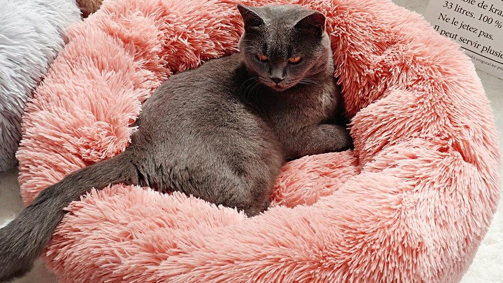 Round Plush Pet Cushion
