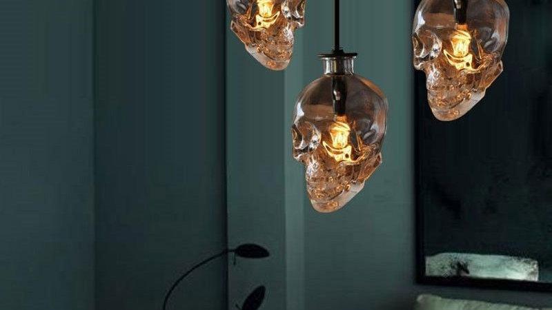 Vintage Skull Pendant Lights