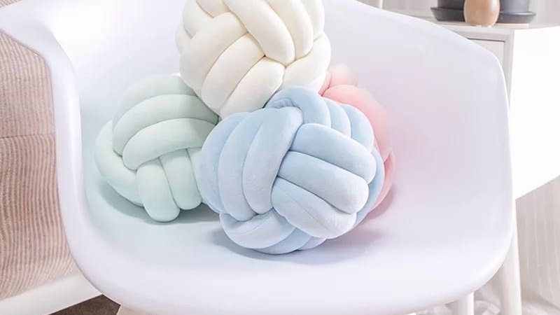 28CM Nordic Knot Pillow Knot Cushion