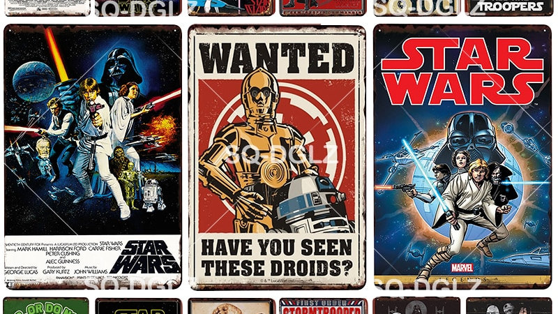 Vintage Star Wars Tin Signs
