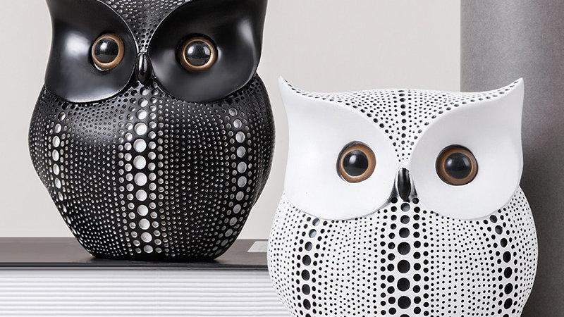 Owl Figurine Desk Decoration  Figurines