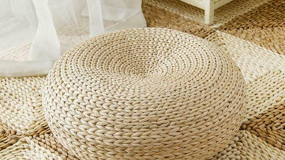Woven Straw Cushion