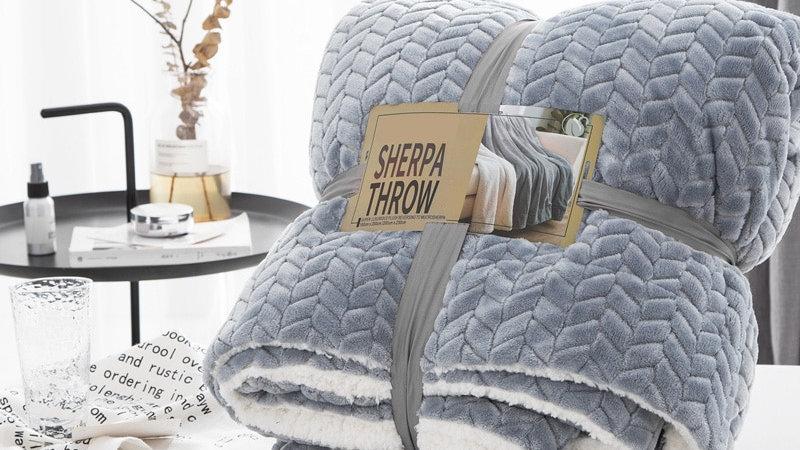 Luxury Super Soft Sherpa Coral Fleece Blanket