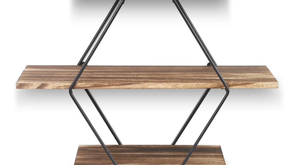 Geometric Vintage Vintage Floating Shelf
