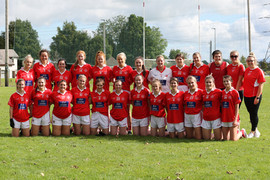 Mungret St. Pauls Ladies Intermediate Football team who lost to Drom Broadford in the Coun