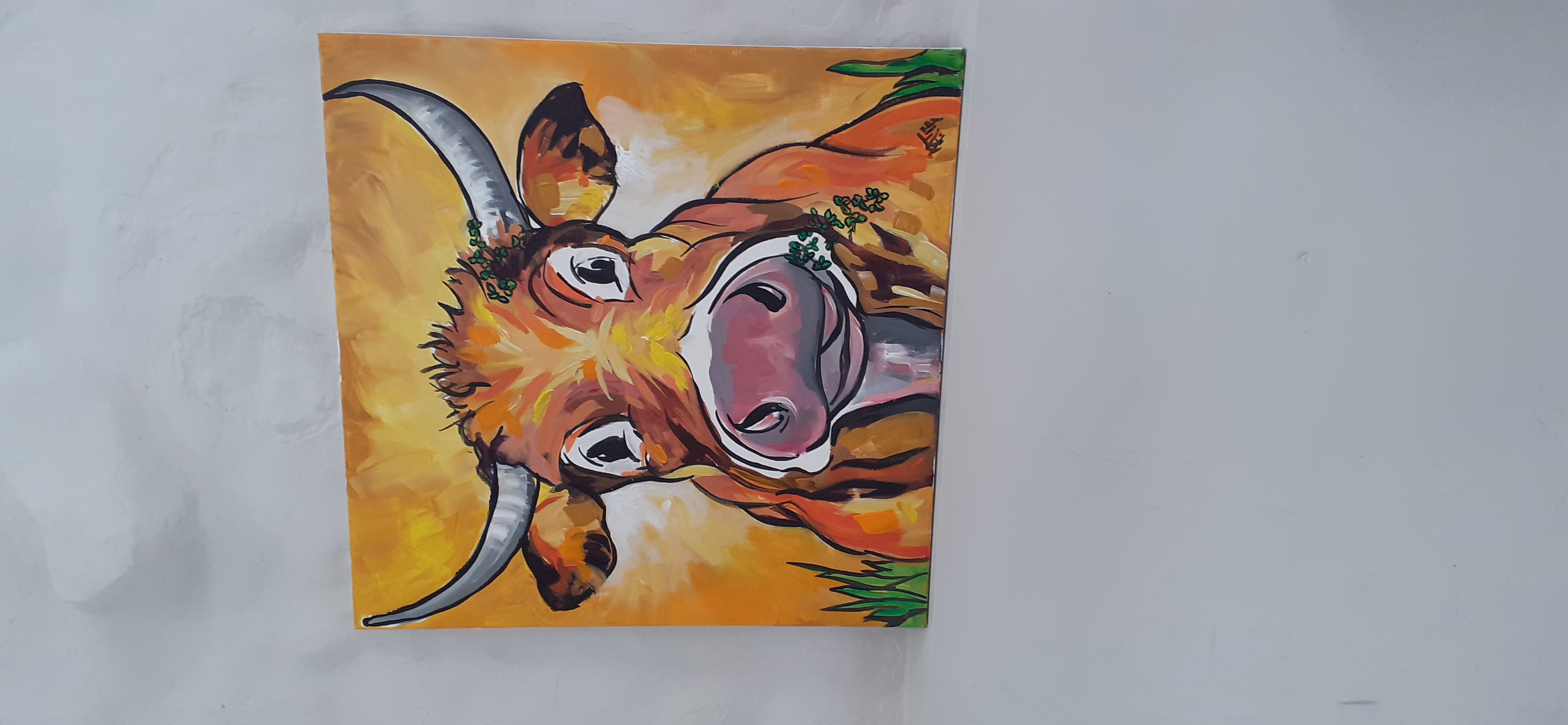 Orange Cow  - Sold