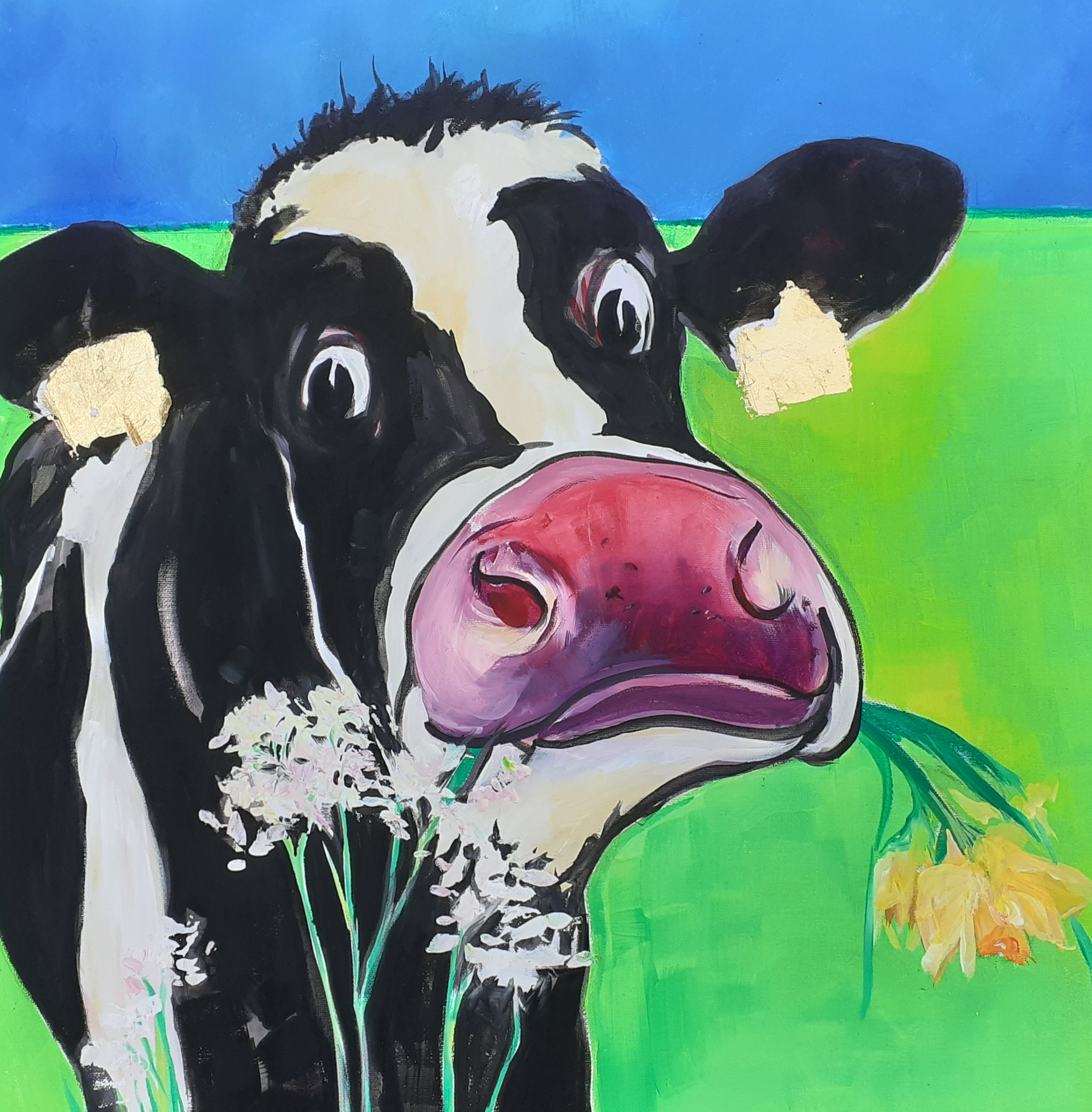 Green Cow  - Sold
