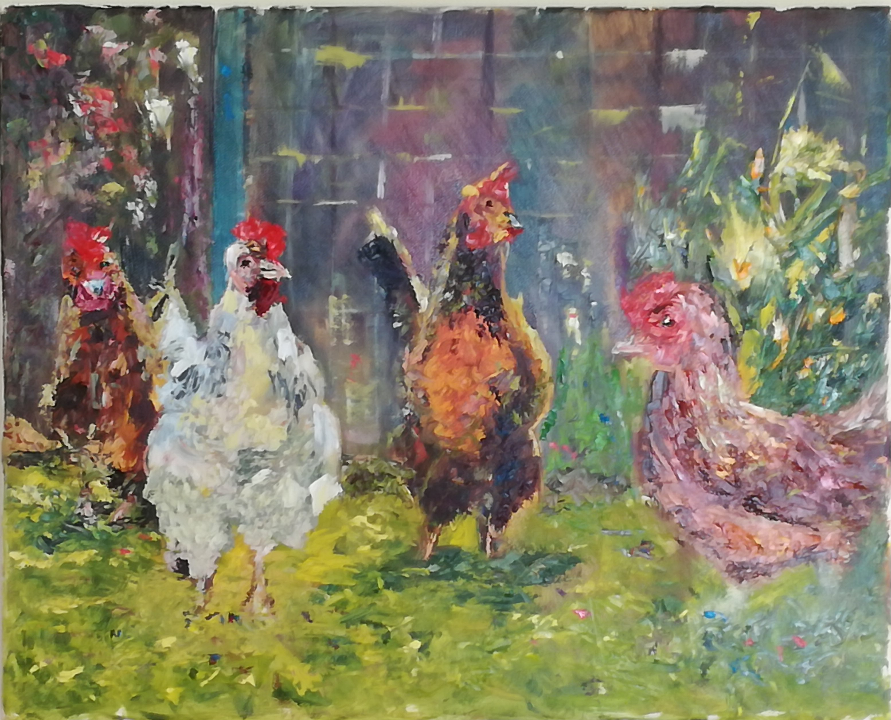 Hens Chatting