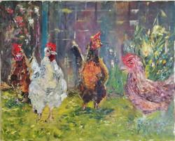 Hens Chatting
