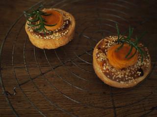 Tartelette abricots au romarin