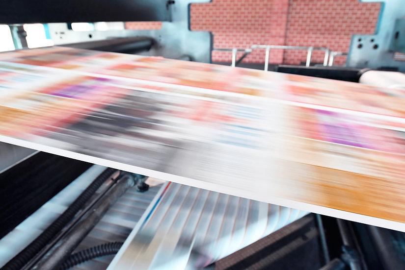 Druckerpresse Zeitung