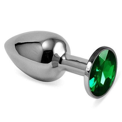 Plug metal bijoux vert